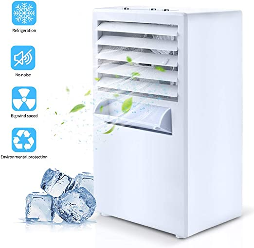 Air Cooling Fan Air Cooling Fan Mini Desktop Fan Quiet Table Fan Mini Evaporative Air Circulator Color : White