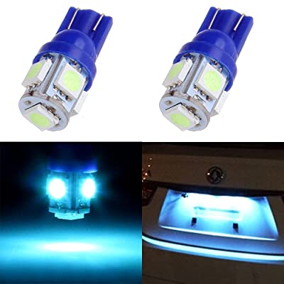 License Plate Lights,cciyu Ice Blue T10 168 194 LED Light Bulb Wedge 5-5050 SMD W5W Light Lamp,2Pack: Automotive