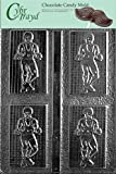 Cybrtrayd S015 Wrestler Chocolate Candy Mold with Exclusive Cybrtrayd Copyrighted Chocolate Molding Instructions