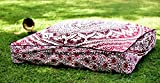 Ombre Mandala Indian Floor Pillow Cover Ottoman Pouf Outdoor Dog / Pets Bed 35'' , Bohemian Style Traditional Cotton Handmade By ''Handicraftspalace''