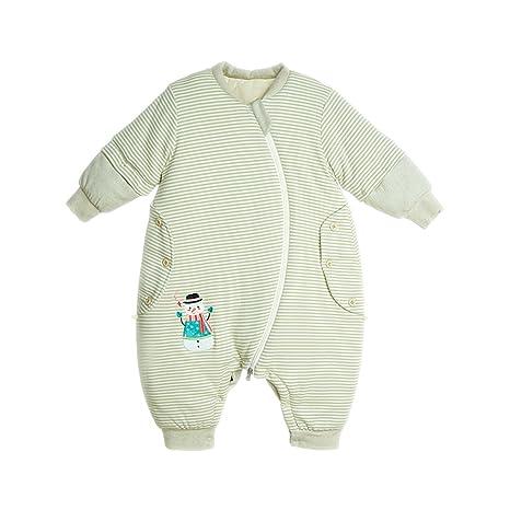 Chilsuessy Wearable manta invierno dormir nido bebé saco de dormir, mangas extraíbles con pies,