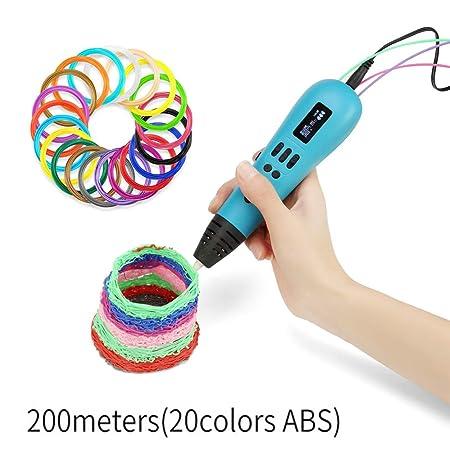 Child Fun La Impresora pequeña 3D Pen Utiliza 3 Colores para ...