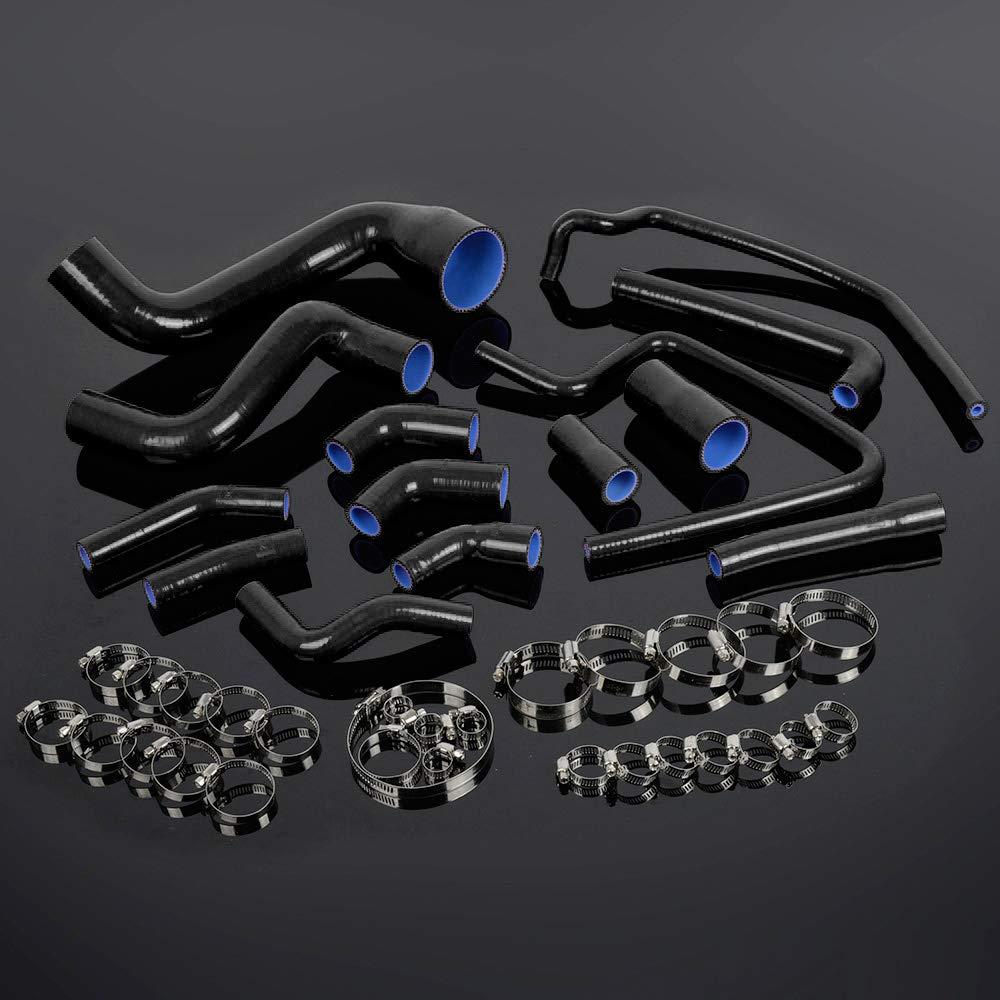 Black For PORSCHE 944 TURBO 951 TURBO S Silicone Radiator Hose Clamps 1988-1991