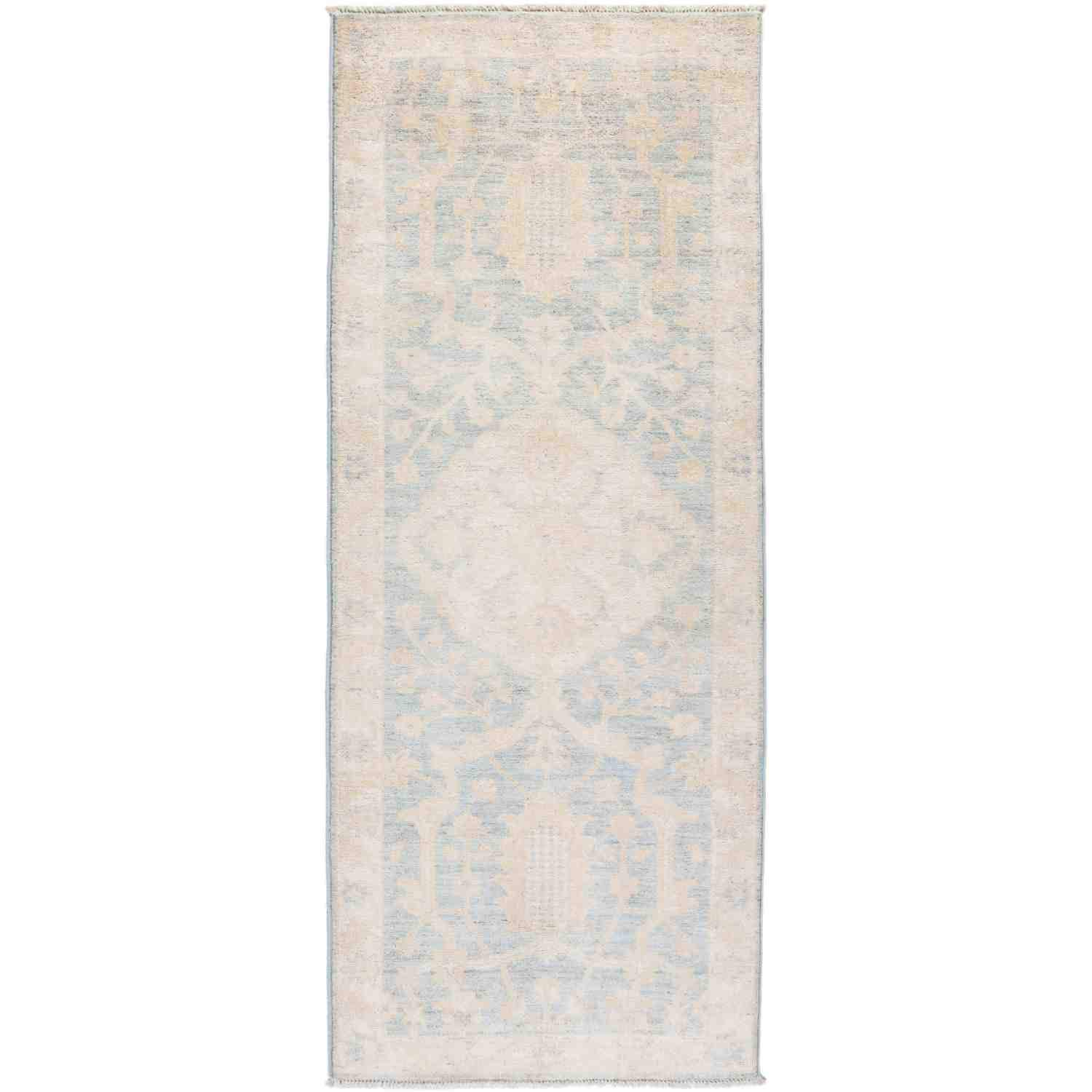 Solo Rugs Silky Oushak Hand Knotted Runner Rug 2 8 x 6 10 Linen