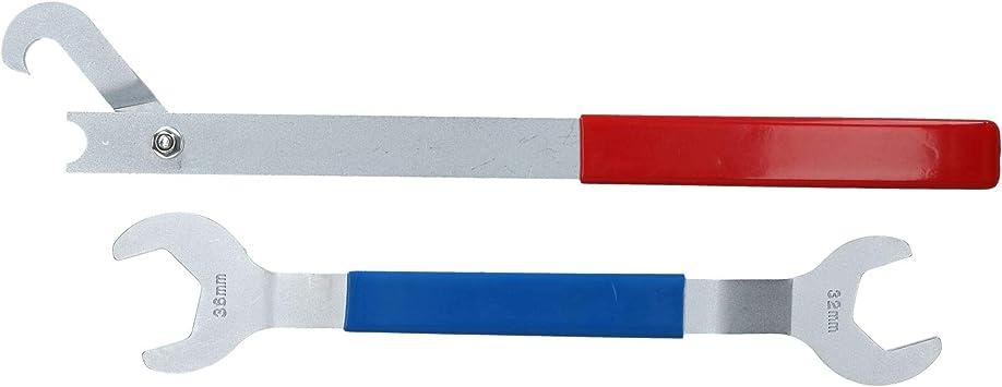 Llave ventilador viscoso de 32 mm + 36 mm polea sujeción tuerca cubo ventilador: Amazon.es: Bricolaje y herramientas