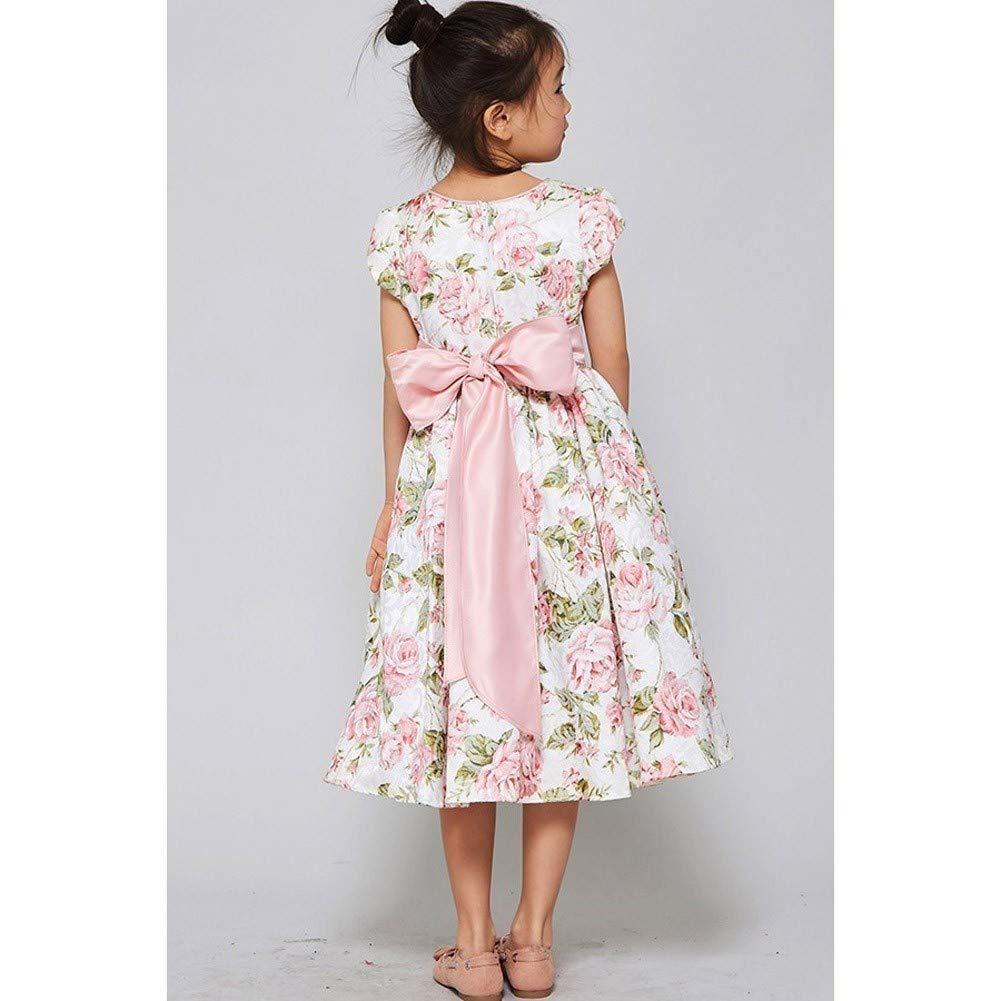 20456884173 Amazon.com  Good Girl Little Girls Dusty Rose Floral Print Jacquard Flower  Girl Dress 6  Clothing