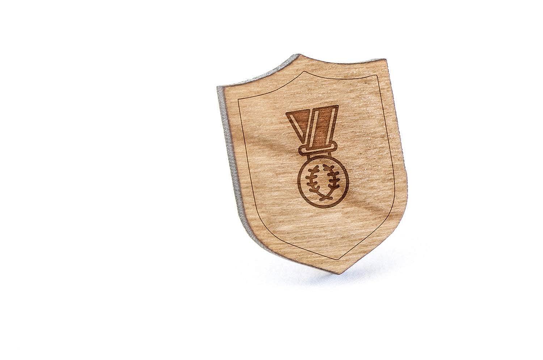 Champion Medal Pin de solapa de madera y alfiler para corbata ...