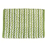 "Baby : DII Ultra Soft Plush Spa Microfiber Shag Chenille Bath Mat Place in Front of Shower, Vanity, Bath Tub, Sink, and Toilet, 17 x 24"" - Green Stripe"