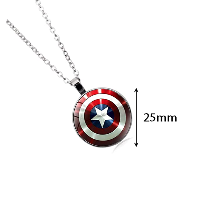 YouU 2 Piezas Marvel Capitán América Escudo Colgante ...