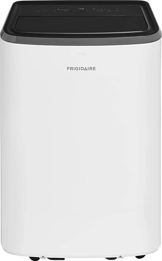 Frigidaire FFPA0822U1 Portable Air Conditioner with Remote Control for Rooms up to 350-sq. ft, 8,000 BTU, White