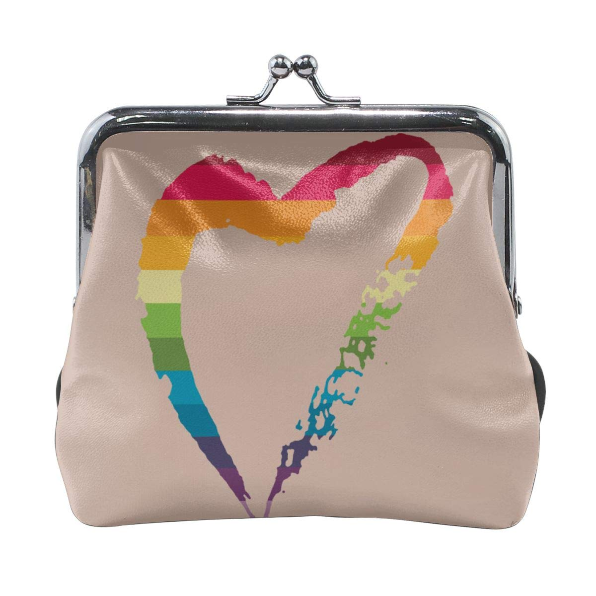 Classic Love Heart Gay Credit Cards Buckle Coin Purse For Womens