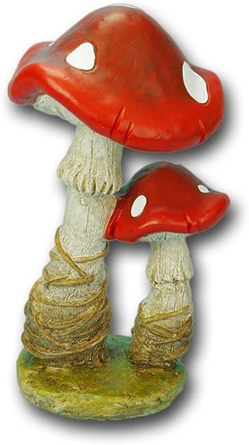 Setas hongos Jardín Decoración Escultura Figura Estatua setas Otoño piedra Seta Bosque: Amazon.es: Hogar