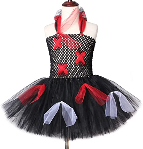 QWER Zombi tutú Vestido Negro Scary Monster Theme Chicas Disfraz ...