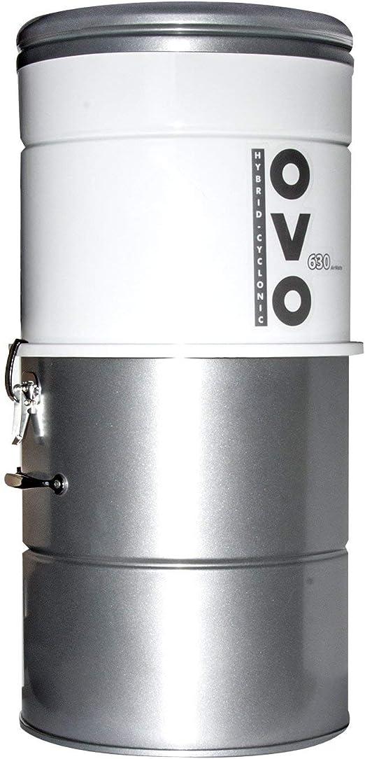 OVO OVO-630ST-25H - Aspirador centralizado, Acero, Gris, 1500 W ...