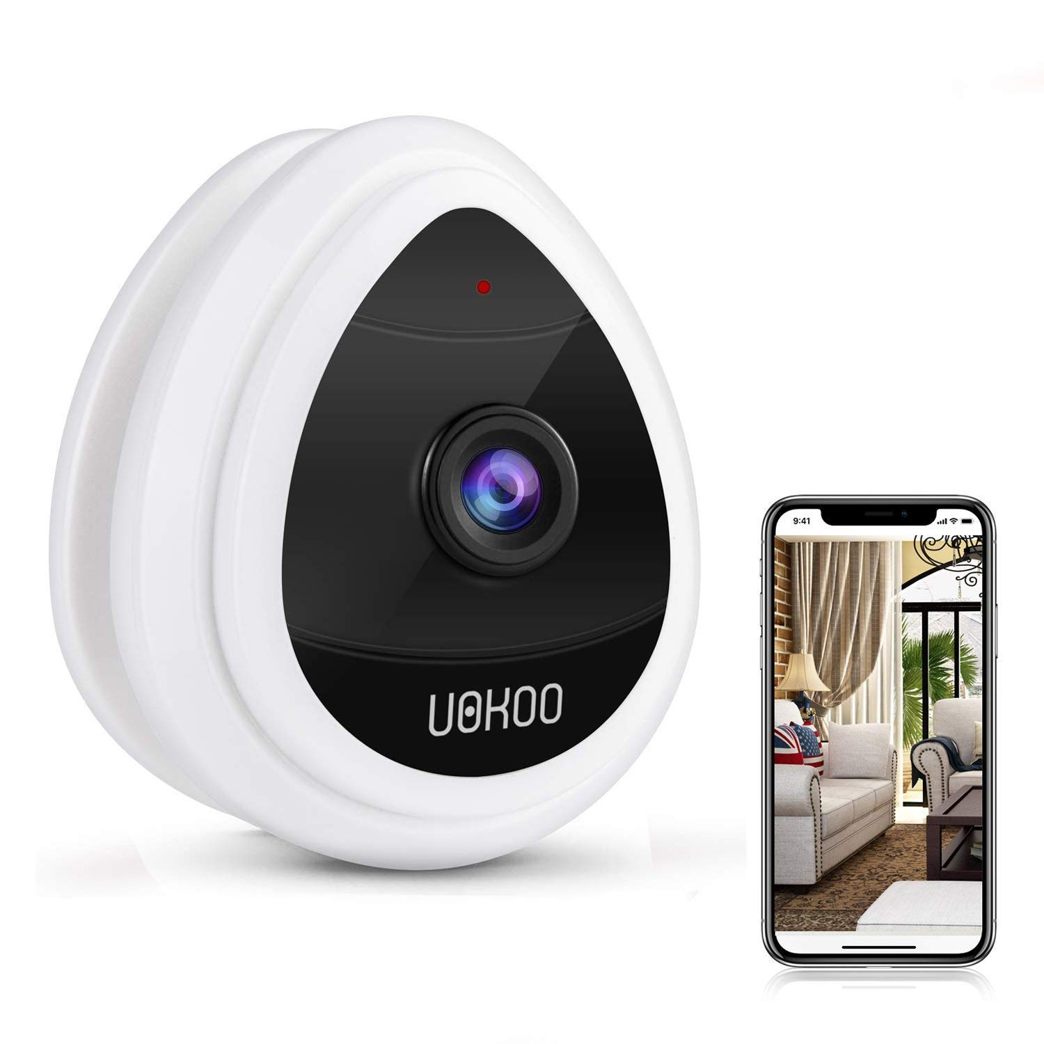 Mini IP Camera, WiFi Wireless Security Smart IP Camera Surveillance System Remote Monitoring with Motion Email Alert/Remote Monitoring for Pet Baby Elder Pet Nanny Monitor