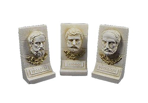 Estia Creations Herodotus Xenophon Thucydides Sculpture Ancient Greek Historians Set