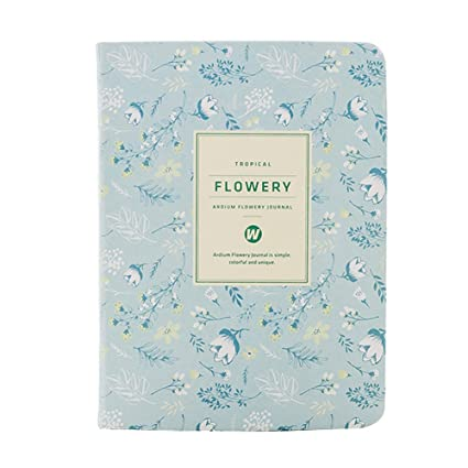 Amazon.com : A6 Kawaii Floral Fresh Flower Notebook Yearly ...