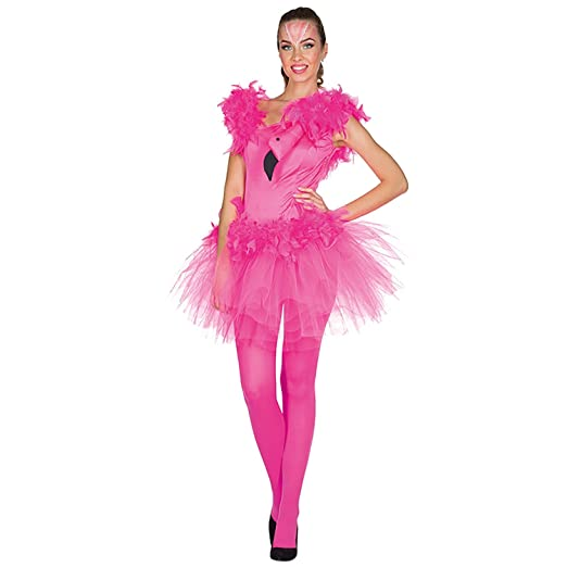 Rubie S Damen Kostum Flamingo Dorna Kleid Pink Vogel Fasching