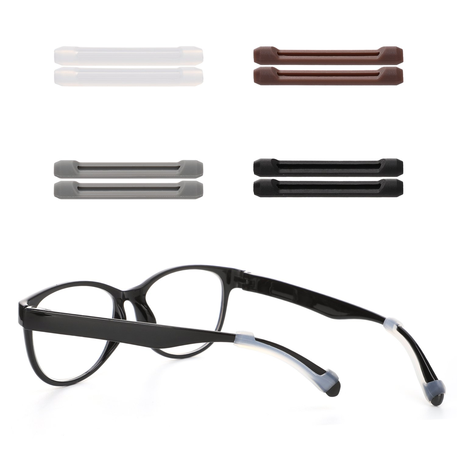 Anti-Slip Ear Hook Holder For Glasses Piece Eyeglass Temple Tip Eyewear Sleeve Retainer Hifot 8 Pairs Silicon Ear Pads for Eyegalsses