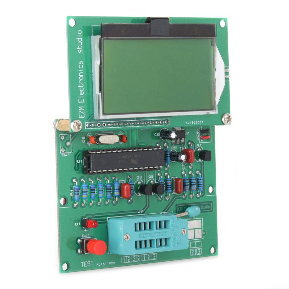 Yosoo Gm328 Pantalla Lcd Para Probador De Transistores Medidor Esr Led Circuito Basado Cinemmetro Generador Onda Cuadrada Bricolaje Y Herramientas