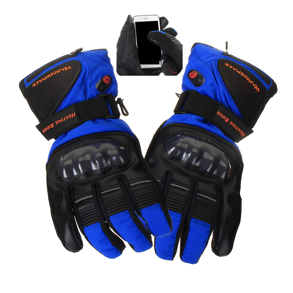 Riding Heated Gloves,Touchscreen Gloves Rechargeable Waterproof Outdoor Electric Gloves for Men Women Climbing, Hiking, Cycling,Ski,Motorcycle,Snow,Black HMAMERÂ