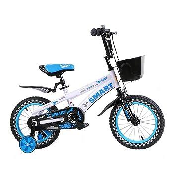 29b06b7f5a1 Bicicletas para niños 3-6-8 Años Bicicletas De Montaña para Niños Y Niñas  14 Bicicletas Infantiles DE 16 Pulgadas Azul Y Blanco: Amazon.es: Deportes  y aire ...
