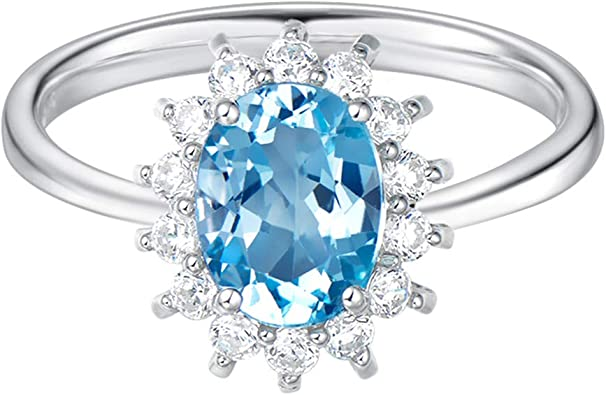 Natural Blue Topaz Women Simple Ring Valentines Gift For Her Oval Designer Women Beautiful Ring 925 Solid Silver Blue Topaz Women Ring