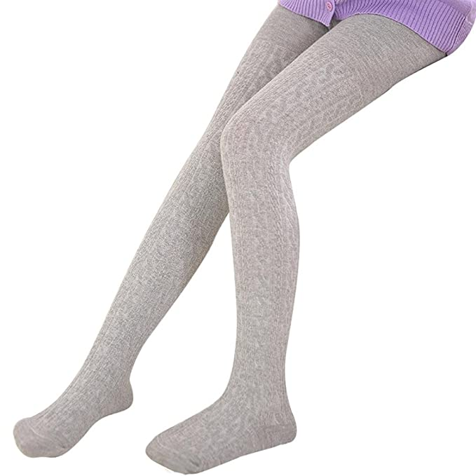 1658d0e3318 Dreamyth Girl s Warm Cotton Tights Socks Leggings Hosiery Pantyhose X-Large  Gray