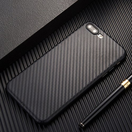 (PE Apple iPhone 6s/6 Plus Slim Carbon Fiber TPU Soft Phone Back Case Cover Skin (Black iPhone 6s/6 Plus 5.5