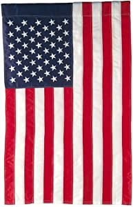 Evergreen Flag American Flag Garden Size Applique Flag - 12.5 x 18 Inches Outdoor Patriotic Americana Decor for Homes and Gardens