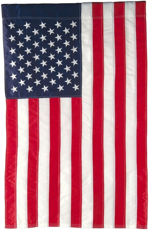 Evergreen Flag American Flag Garden Size Applique Flag 12 5 X 18 Inches Outdoor Patriotic Americana Decor For Homes And Gardens Outdoor Banners Garden Outdoor