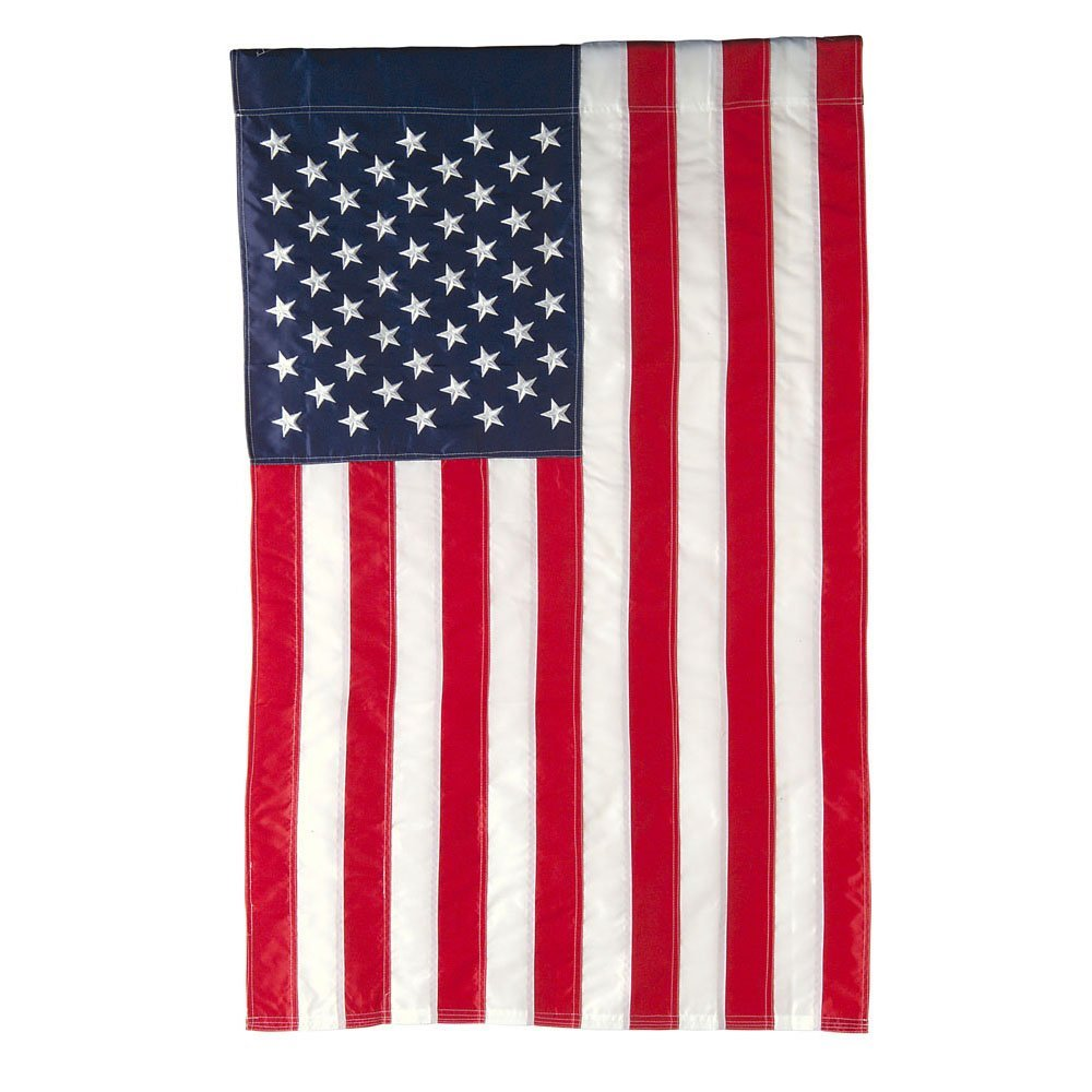"Evergreen Flag American Double Sided Denier Nylon Garden Flag - 18"" x 12.5"""