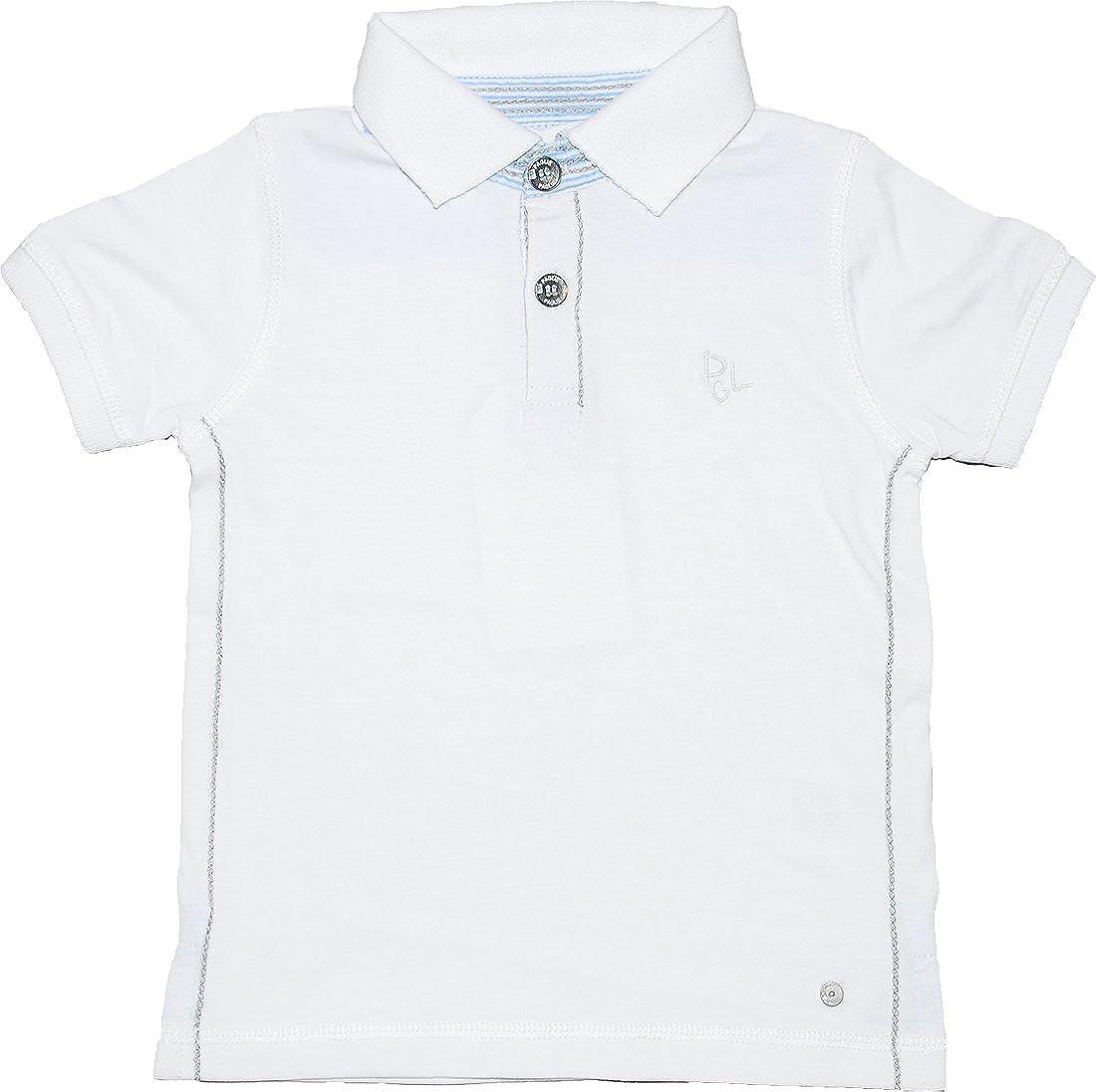 Paglie Baby Jungen Polo-Shirt Kurzarmshirt Weiß Festlich MB4-356 W-MB4-W17-355