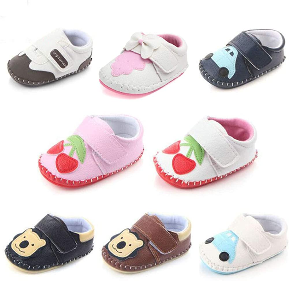 UWESPRING Unisex Baby Sneakers Cartoon Anti-Slip Rubber Soft Sole with Socks