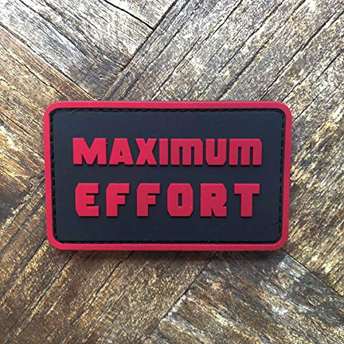 NEO Tactical Gear - Maximum Effort Deadpool - PVC Rubber Tactical Morale Patch - Hook Backed with Loop Fastener Backing Attachment