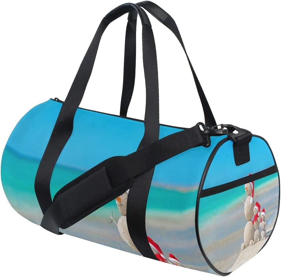 Gym Bag Christmas Beach Women Canvas Duffel Bag Cute Sports Bag for Girls