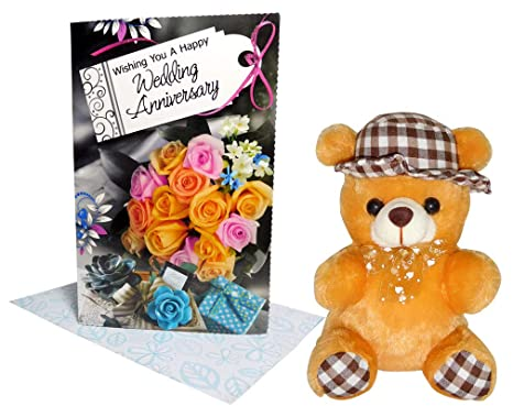 Buy Wedding Anniversary Gift Greeting Card Soft Toys Online At