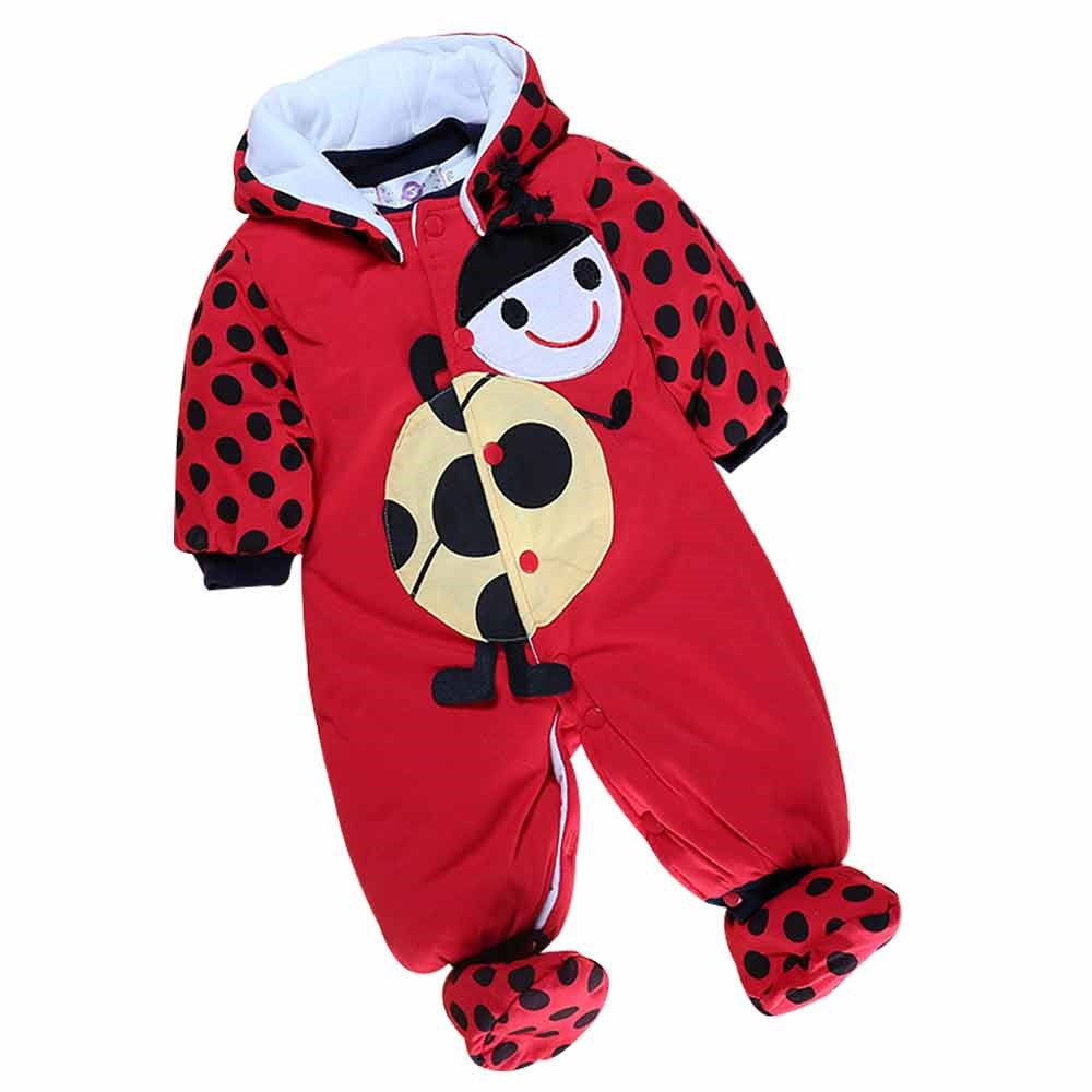 Kids Tales Baby Boy Girl Winter Warm Animal Romper Infant Cute Cartoon Outfits