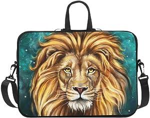 InterestPrint Lion Aslan Painting 17 17.3 Inch Waterproof Neoprene Laptop Sleeve Notebook Computer Case Shoulder Bag with Handle & Strap for MacBook Dell HP Woman Man