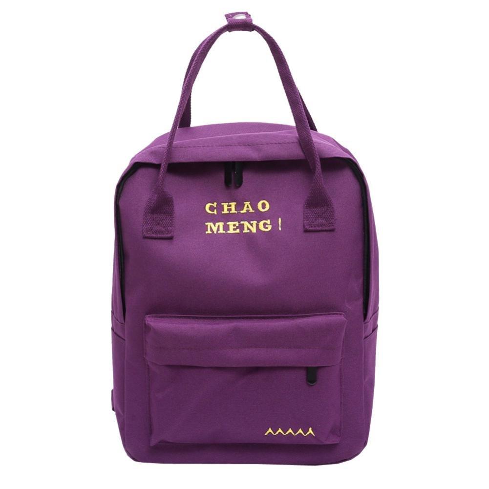 School Book Bags for Girls,Jchen(TM) Clearance Sale! Fashion Student Child Girls Oxford Cloth Letter Shoulder Bag School Bag Satchel Tote Backpack (Purple)