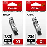 Canon PGI-280XL Ink Cartridge Pigment Black 2 Pack in Retail Packing