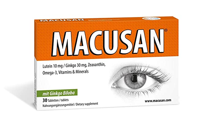 Suplementos Macusan® para los ojos | Vitaminas luteína y zeaxantina ginkgo biloba omega 3 | Cápsulas para mejorar la visión del ojo y mantener la ...