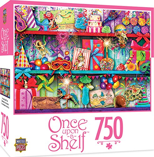 MasterPieces Once Upon a Shelf Celebrate Good Times - Party Favors 750 Piece Jigsaw Puzzle by Aimee Stewart by MasterPieces