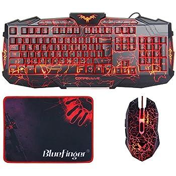 Amazon.com: Gaming Keyboards with Mouse, BlueFinger LED