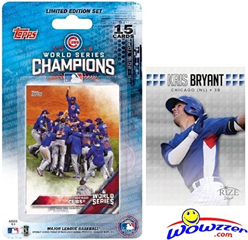 2016 Topps Chicago Cubs World Series CHAMPIONS Team Set with BONUS 2013 KRIS BRYANT ROOKIE Card! Set includes Bryant, Kyle Schwarber, Addison Russell, Anthony Rizzo, David Ross, Jake Arrieta & More!