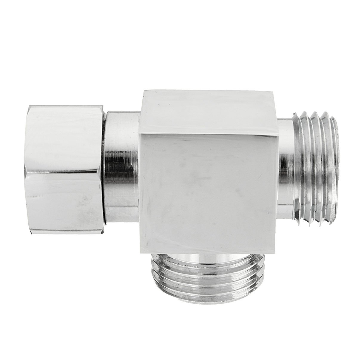 SEVENMORE G1//2 Brass 3 Way T-Adapter Angle Valve Diverter Shower Head Water Separator Valve Convertor