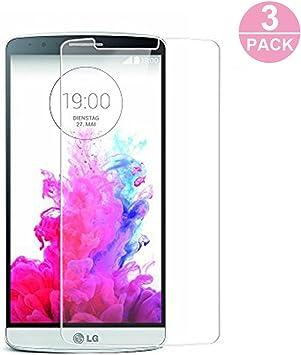 WEOFUN 3 Unidades Cristal Templado LG G3, Alta Definición ...