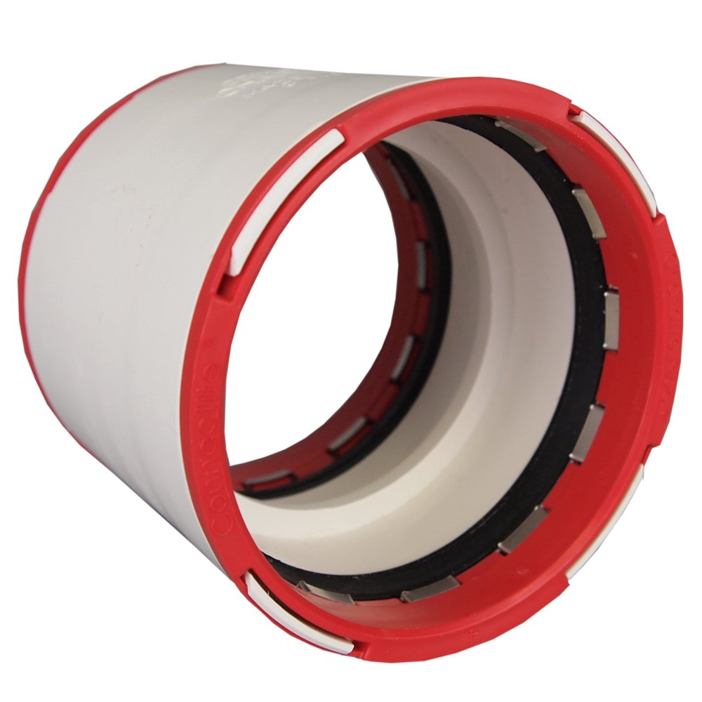 PVC Charlotte Pipe CTT 00100 0800 Connectite Coupling 1.5 White