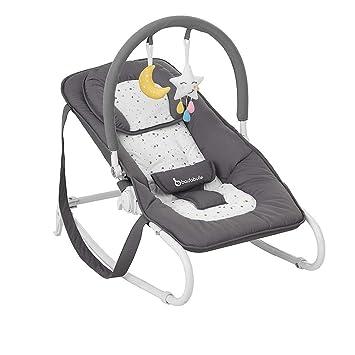 mit integrierter Kopfst/ütze abnehmbarem Spielbogen und Sitzbezug 5-fach verstellbarer R/ückenlehne Badabulle Easy Babywippe