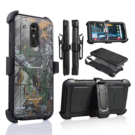 separation shoes a07a7 63326 LG Stylo 4 Rugged Case, [360 Degree Protection] [Kick-Stand] Full-Body  Heavy Duty Case with [Built-in-Screen Protector] [Belt Clip Holster] for LG  ...
